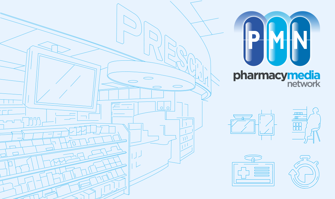Pharmacy Media Networks Line Art